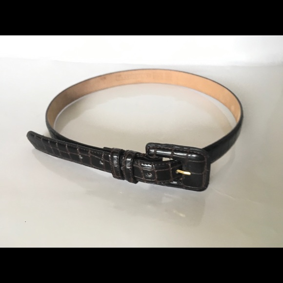 Perry Ellis Accessories - Perry Ellis Italian Croc Leather L Women's Belt